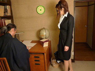 Office lady got fucked in a private home