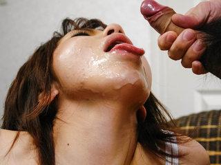 Japanese big titty honey Airi Nakajima is coated in hot..