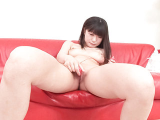 Teenager Shizuku strips, shaves, and playthings her pretty..