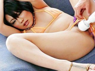 Haruna Katou blows a load hard after her boyfriend..